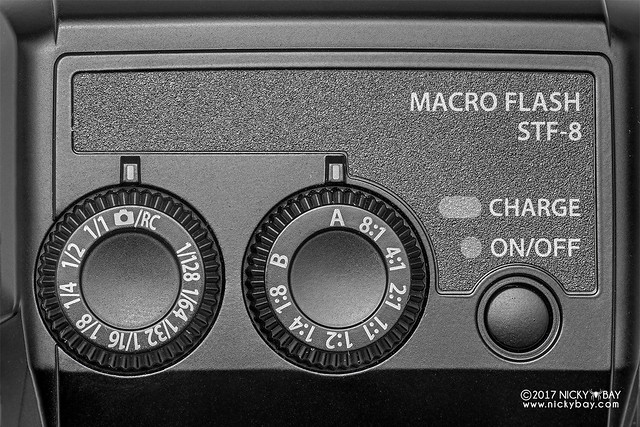 Olympus STF-8 Macro Twin Flash Dial Controls - DSC_6506