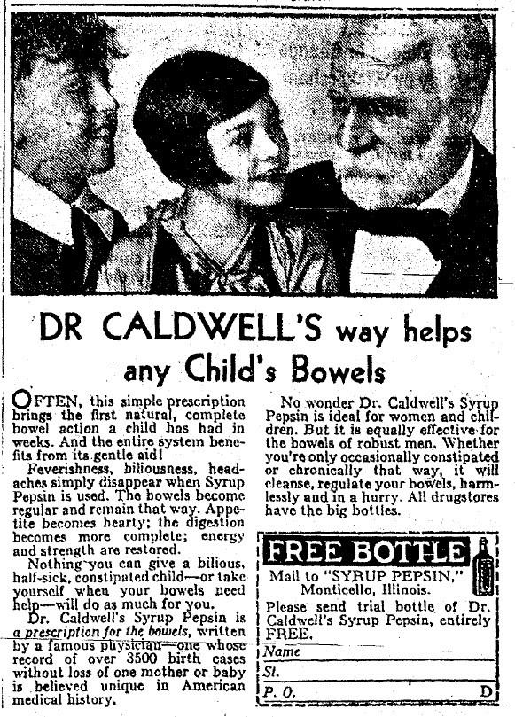 dr caldwell's bowels