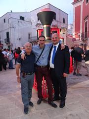 Da sx Giovanni Forte, l'artigiano Beppe Coppi e il presidente Livio Lerede