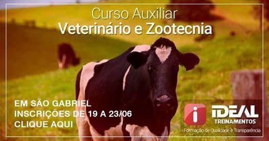auxiliar veterinário e zootecnia cartaz 2