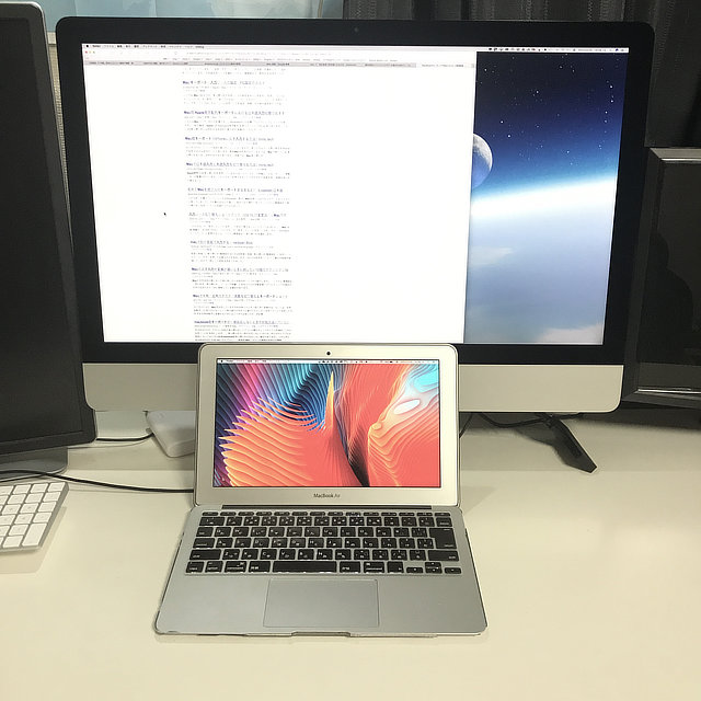 iMacの手前に