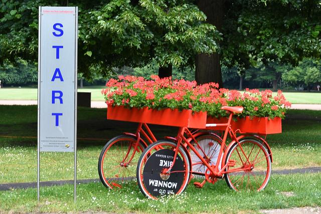 200 Jahre Zweirad ... Mannem-Bike Monnem Bike Laufmaschine, nicht Laufrad ... Freiherr Karl von Drais ... Vorläufer des Fahrrads ... Foto: Brigitte Stolle, Mannheim 2017