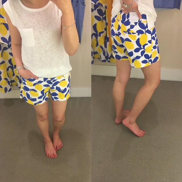 LOFT Lemonade Riviera Shorts with 4 inch inseam, size 00 regular