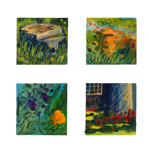 Sketchbook #103: Tiny Gouache Paintings