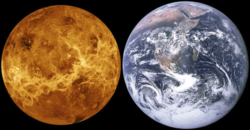 Venus & Earth Size Comparison