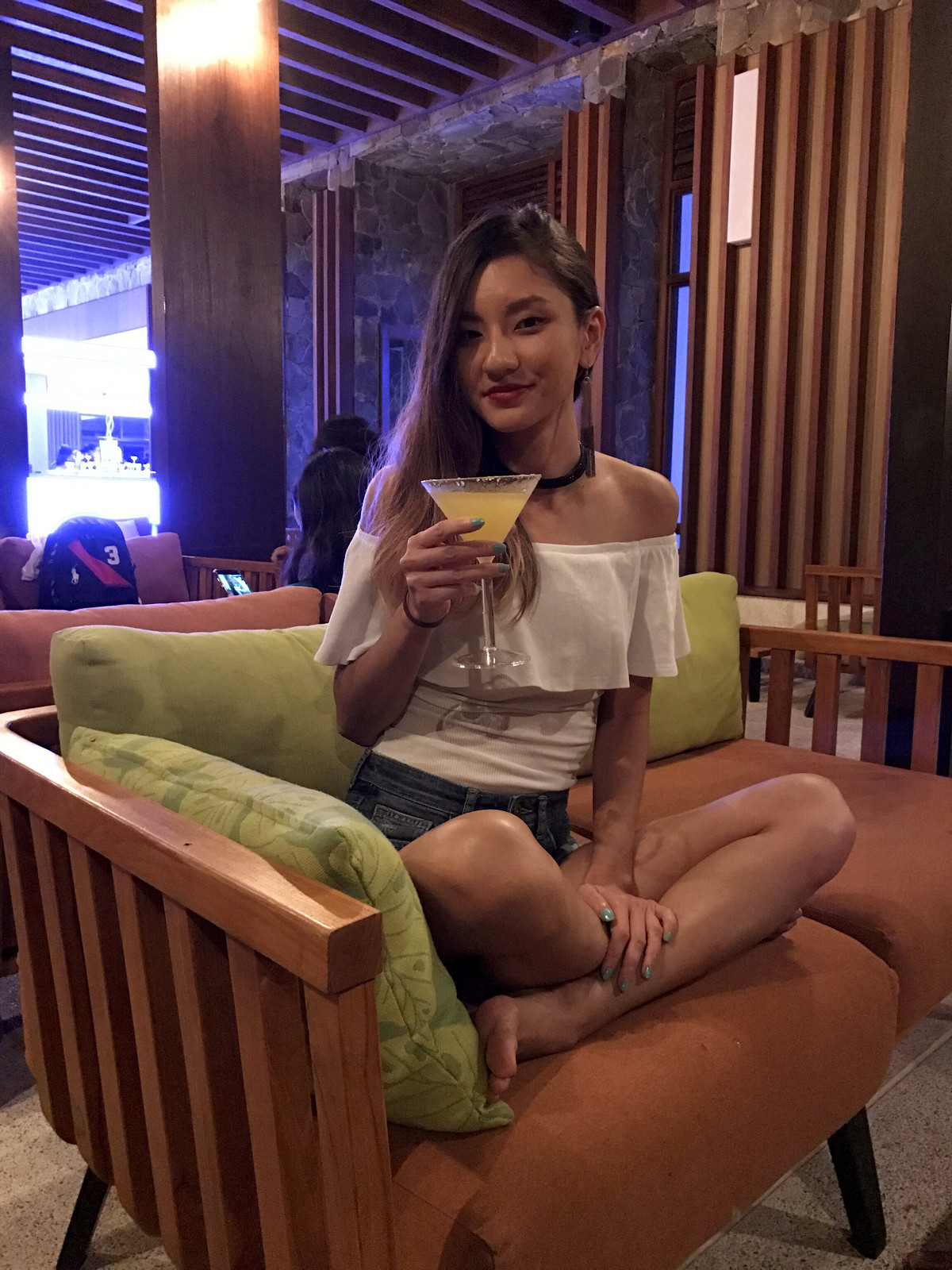 Margarita cocktail at Santai Bar