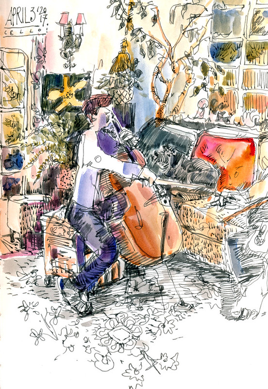 Sketchbook #104: Cello Lesson