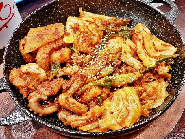 Chicken Galbi And Chukkumi Octopus