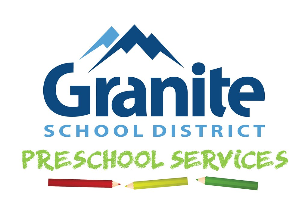 Granite School District logo with text 'Preschool Services' and colored pencils
