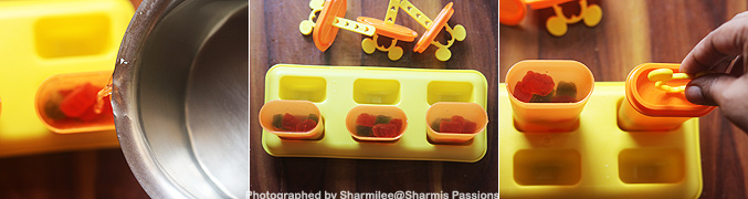 How to make Gummy bear popsicles recipe - Step3