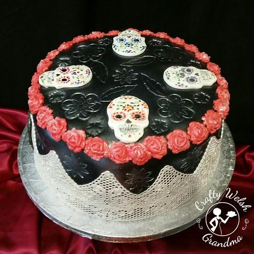 Excellent Crafty Welsh Grandma Sugar Skulls Birthday Cake Funny Birthday Cards Online Eattedamsfinfo