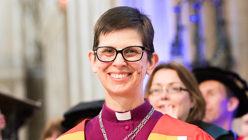 The Rt Revd Libby Lane in graduation gown