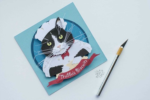 Paper Cut Pet Portrait by Kathryn Willis -Trouble