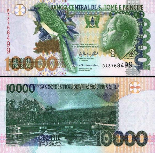 10 000 Dobras Svätý Tomáš a Princov ostrov 2013, P66d