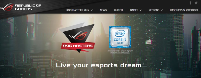 Republic Of Gamers anuncia competencia de E-Sports ROG MASTERS 2017