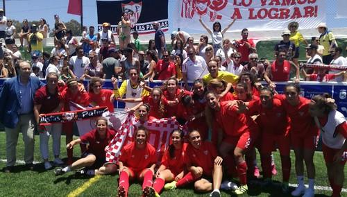 AionSur 34946571822_6f4dea4ed8_d El Sevilla Femenino de Maribel Márquez y la arahalense Ana Sánchez vuelve a Primera División Deportes Fútbol