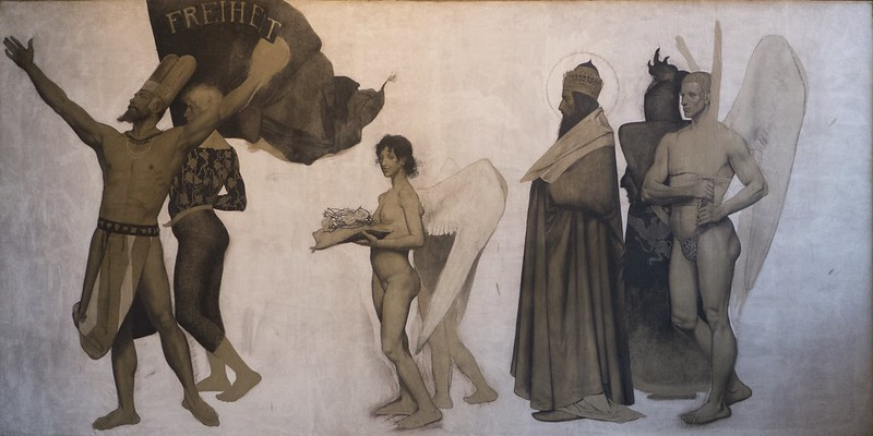 Sasha Schneider - To freedom, 1894