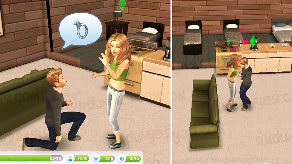 The Sims Mobile Wedding Proposal Evlenme Teklifi