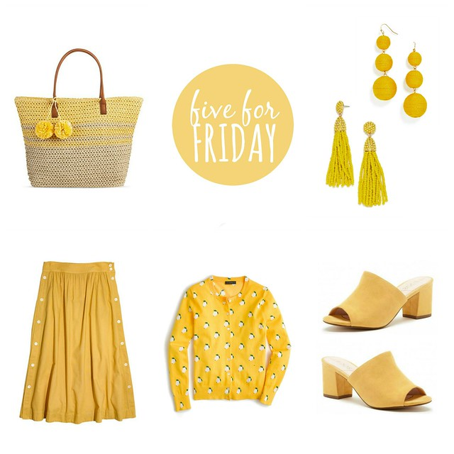 Five for Friday, Vol. 188 - Hello Yellow | Style On Target blog