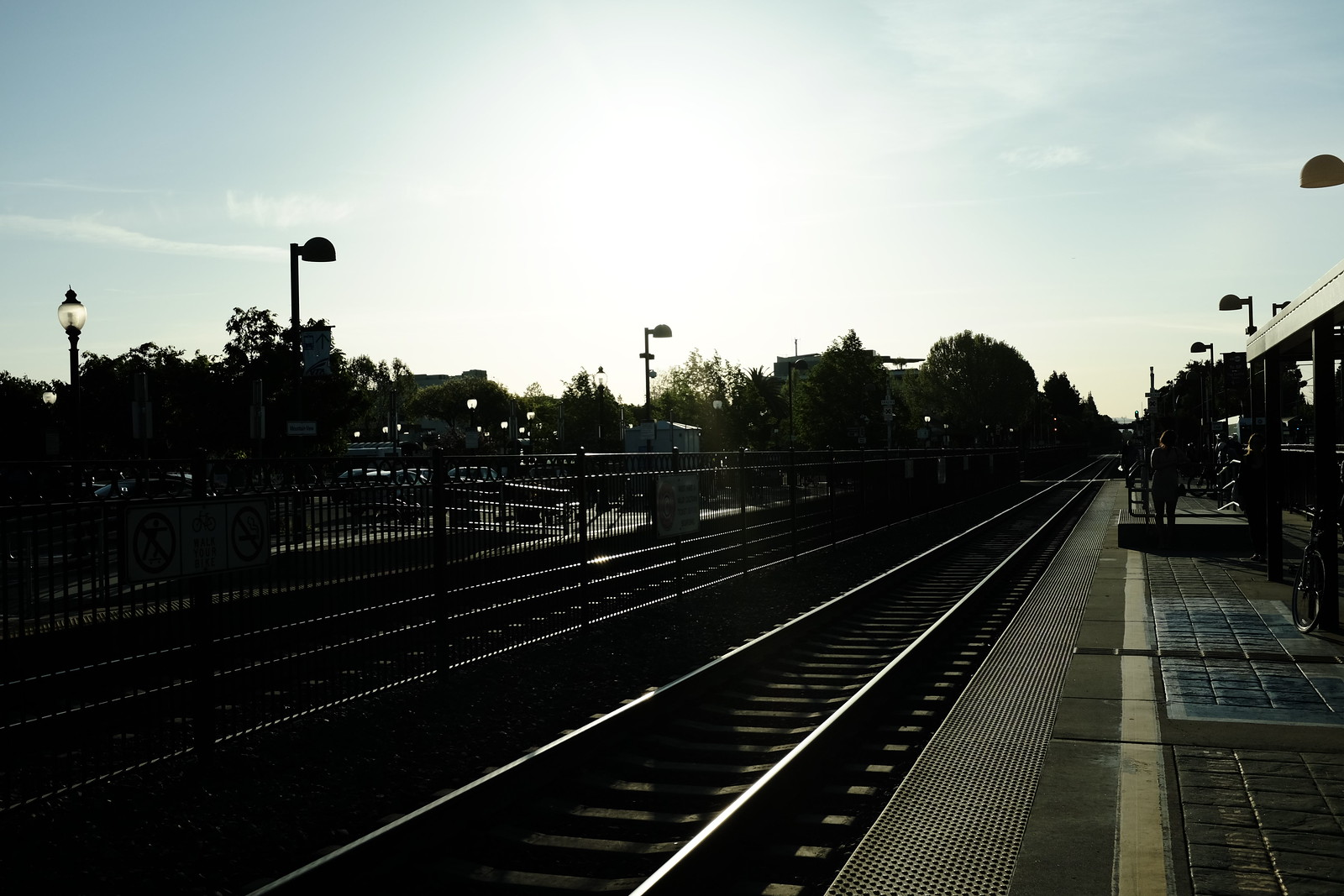 The Mountain View station of Caltrain in San Francisco by FUJIFILM X100S.