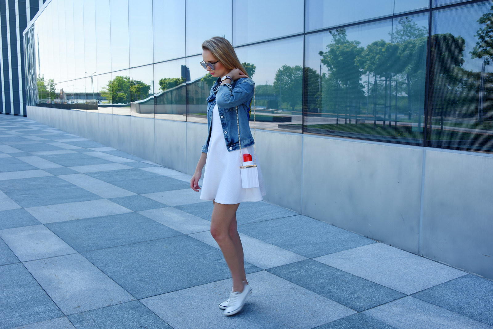 Styling a denim jacket