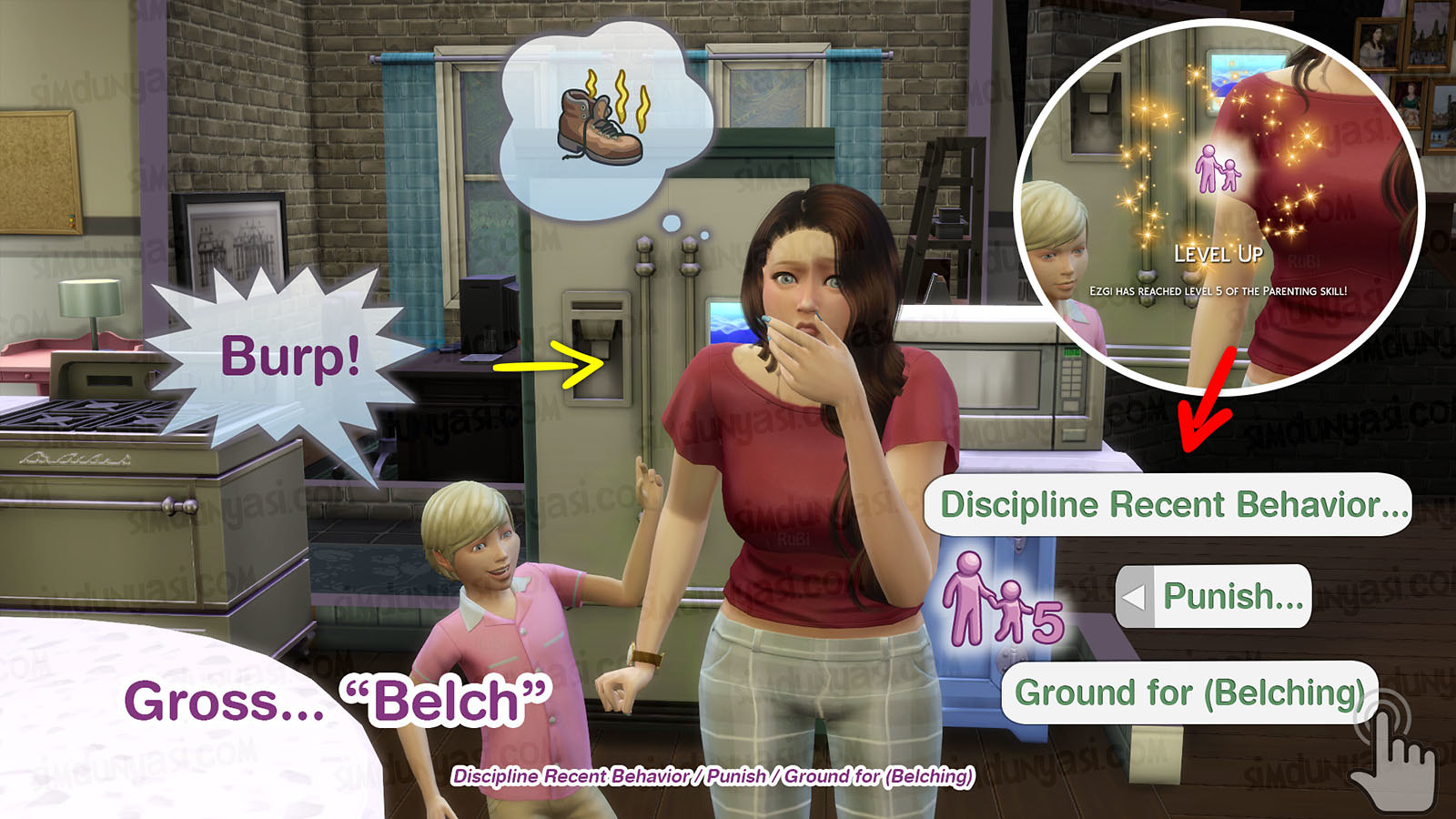 The Sims 4 Parenthood Ebeveynlik Paketi Grounding for Belch