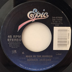MICHAEL JACKSON:MAN IN THE MILLER(LABEL SIDE-A)