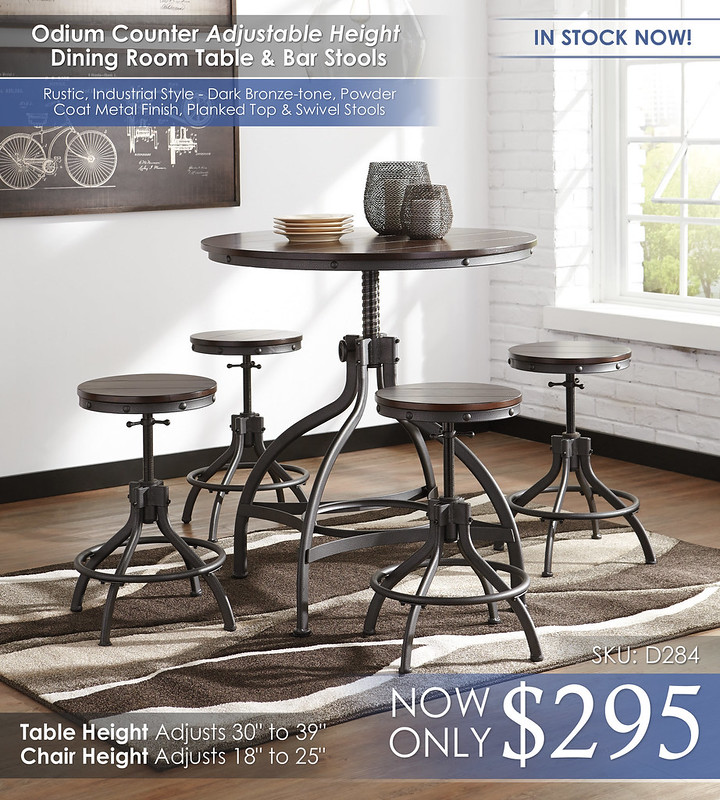 Odium Adjustable Table & Chairs D284-223-R316-HIGHnew