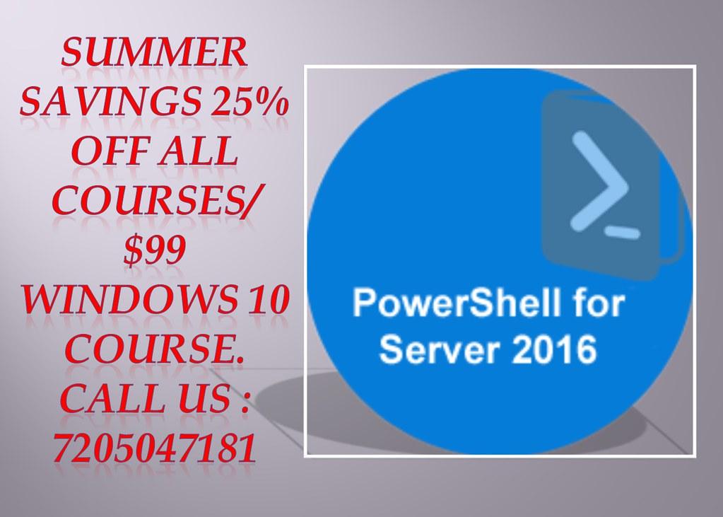 Powershell Server For Windows 2016 Online Training Onl Flickr