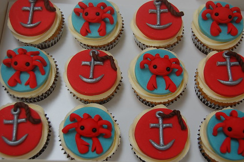 Pleasant Crab And Anchor Cupcakes Beautiful Birthday Cakes Funny Birthday Cards Online Alyptdamsfinfo