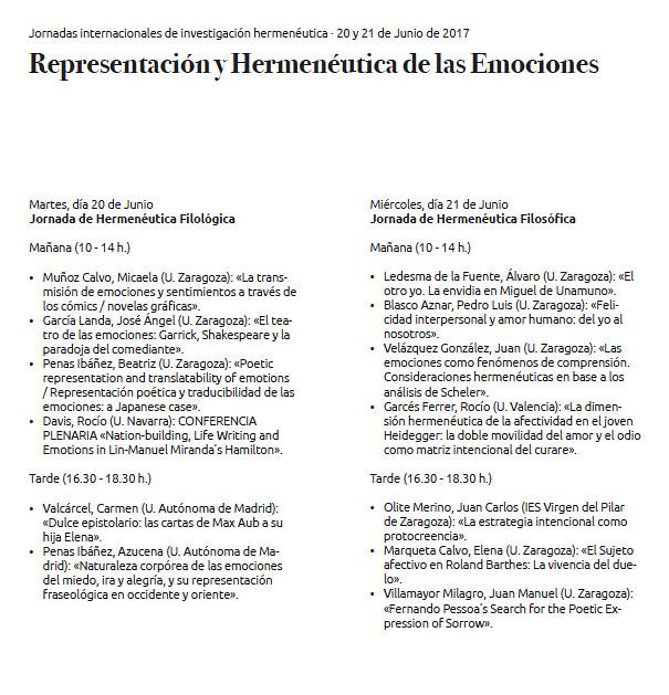 Representación y Hermenéutica de las Emociones