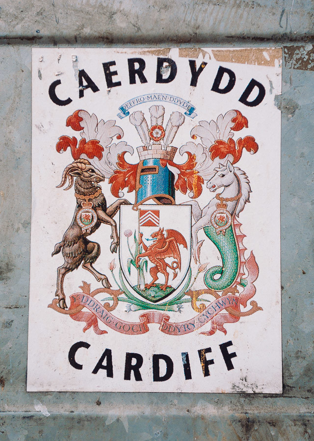 cardiff sticker with emblem