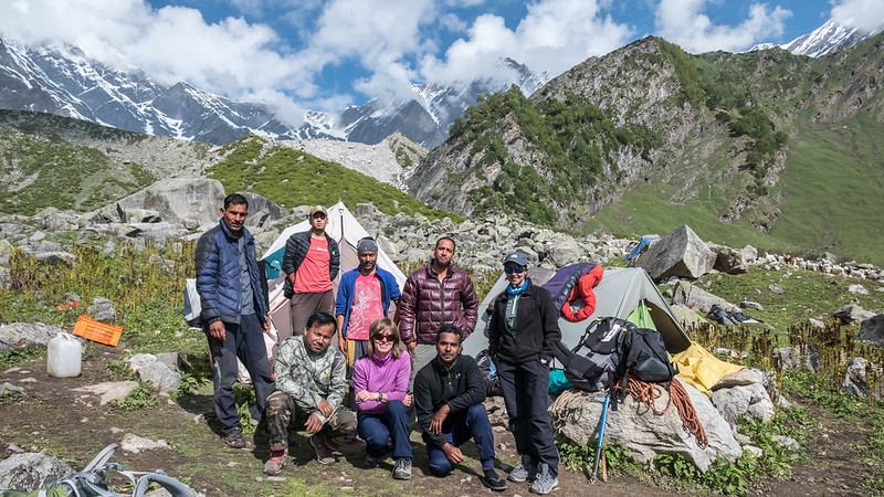 BMC 2017 staff & participants at Bhakartach BC (10,900')