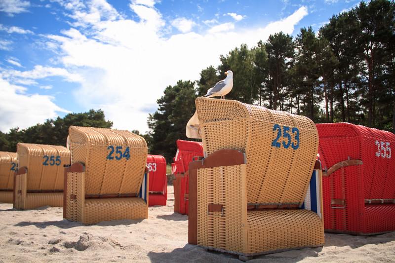 Ostseebad Binz Strandkorb am Meer