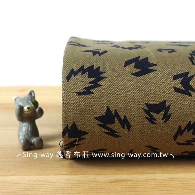 (震撼)小火 抽象圖騰 手工藝DIy拼布布料 CA590177