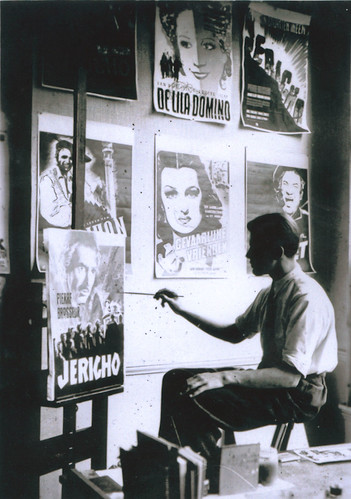 Ad Werner in his studio