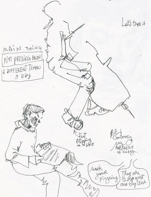 Sketchbook #104: Cello Lesson