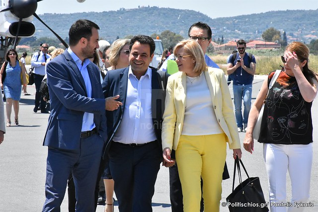 Corina's Crețu arrival in Chios Island