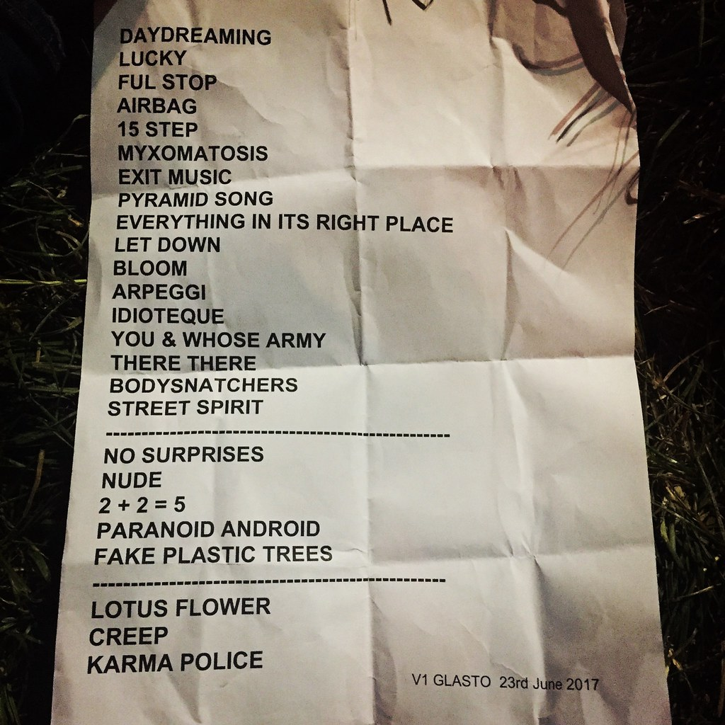 The Radiohead Setlist From Friday Night Paul Carless Flickr