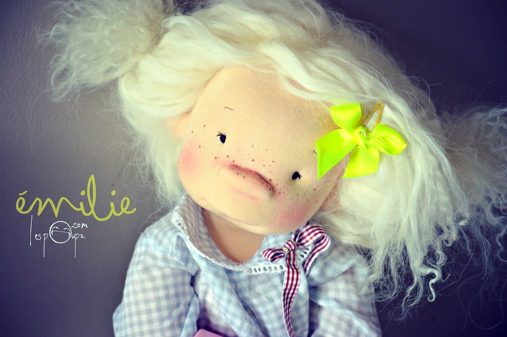 Emilie, 18 inch Natural Fiber Art Doll by LesPouPZ