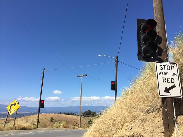 One way signal on I-130