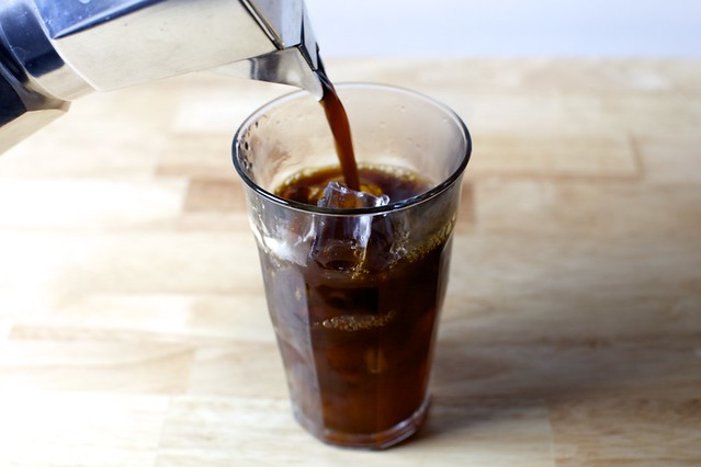 pour over a cup of ice