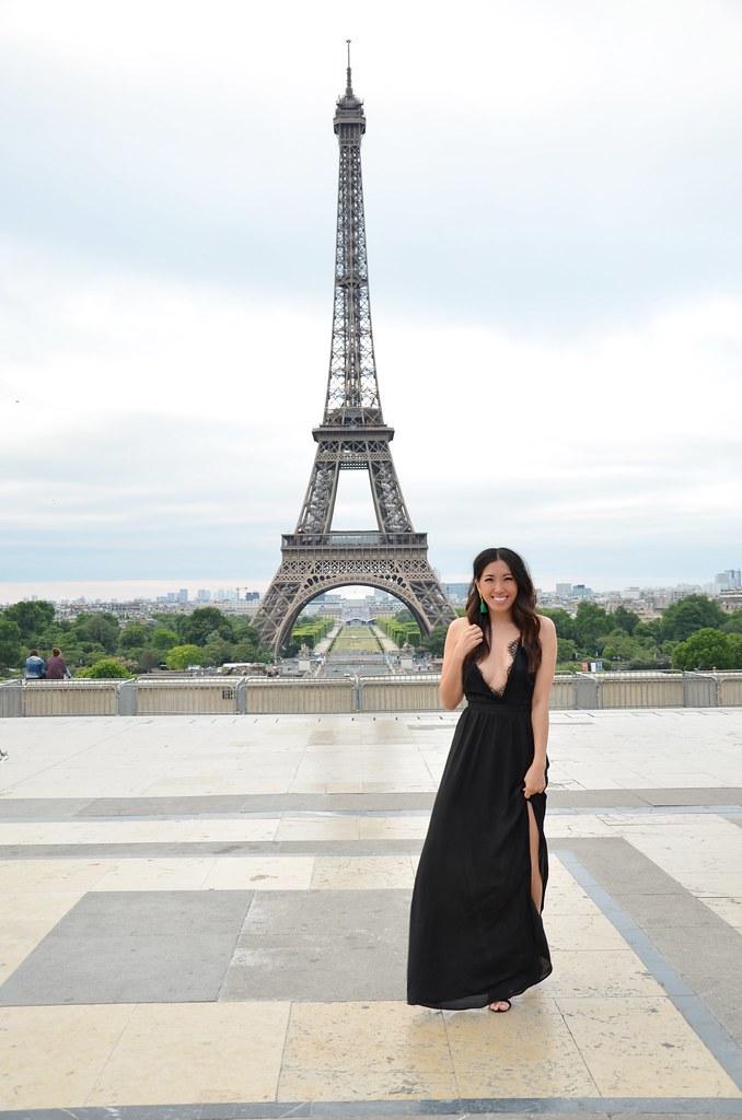 paris,france,paris street style,fashion blogger,lovefashionlivelife,joann doan,style blogger,stylist,what i wore,my style,outfit,tobi,shop tobi,lbd,long black dress,eiffel tower,travel blogger,travel,jetset,tassel earrings,chanel