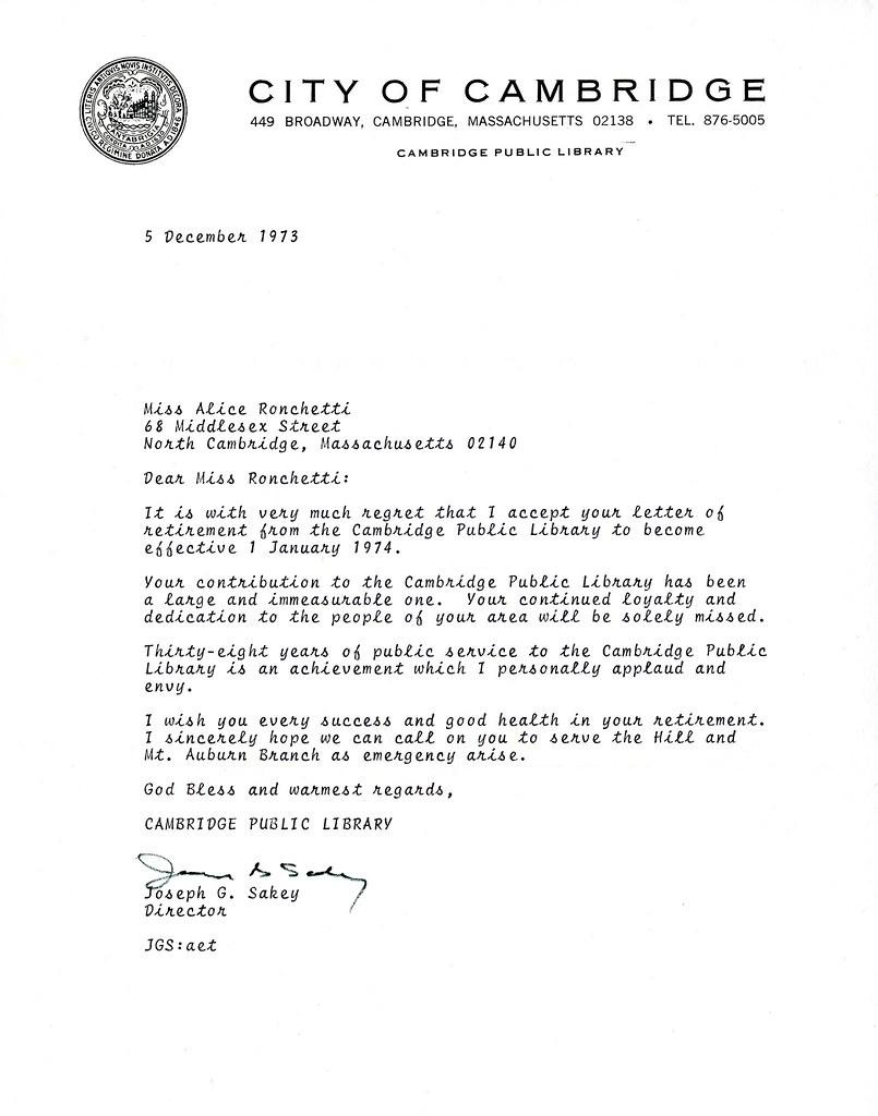 library retirement acceptance letter content description flickr