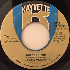 JACKIE MOORE:DISCO BODY(SHAKE IT TO THE EAST, SHAKE IT TO THE WEST)(LABEL SIDE-B)