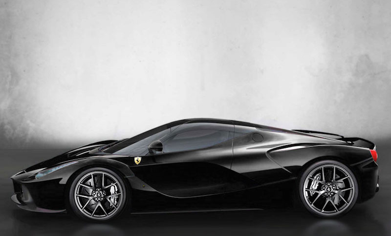 2014 Ferrari LaFerrari Hybrid Supercar in Black