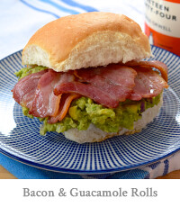 Bacon & Guacamole Breakfast Rolls