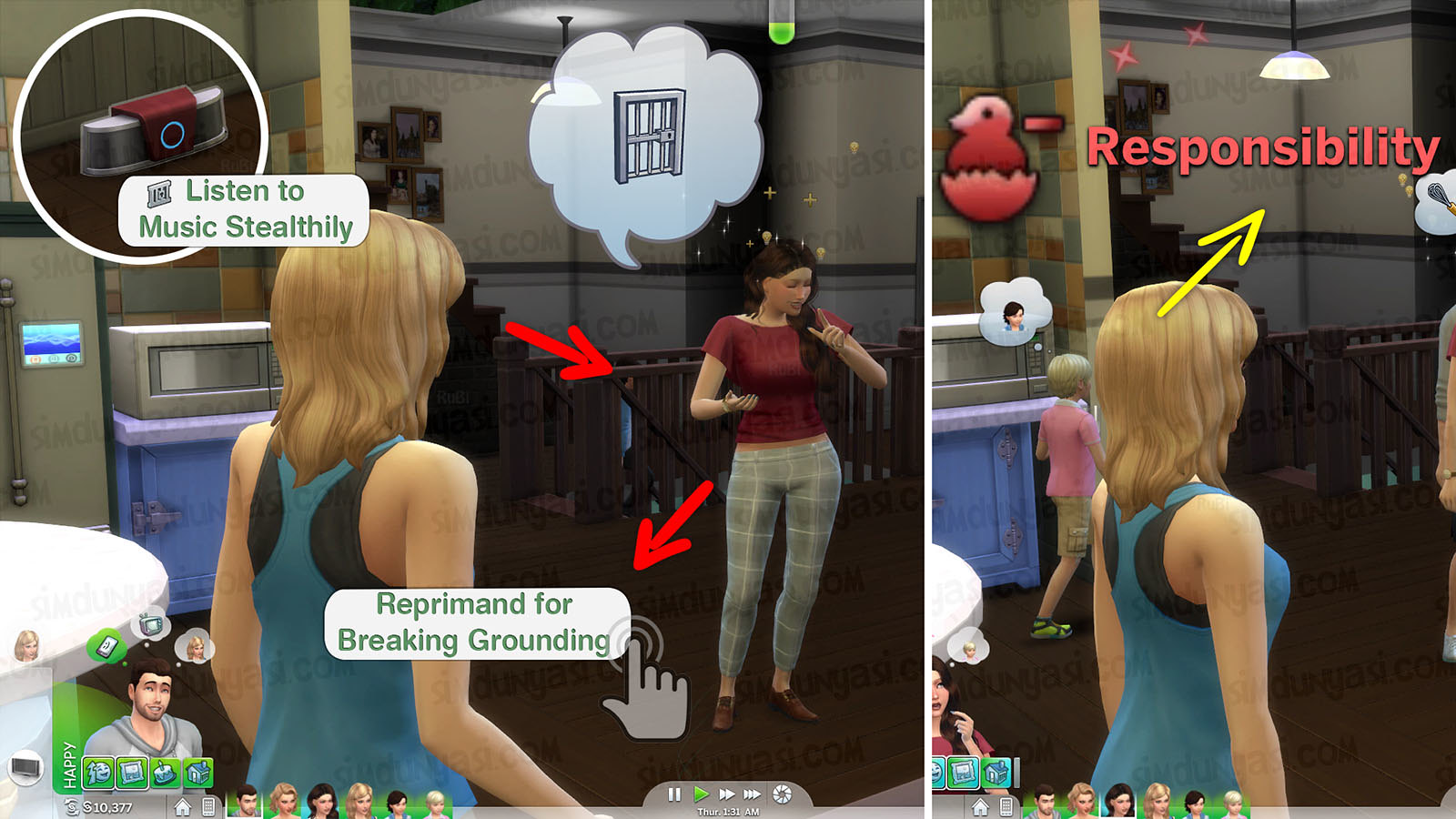 The Sims 4 Parenthood Ebeveynlik Paketi Reprimand for Breaking Ground