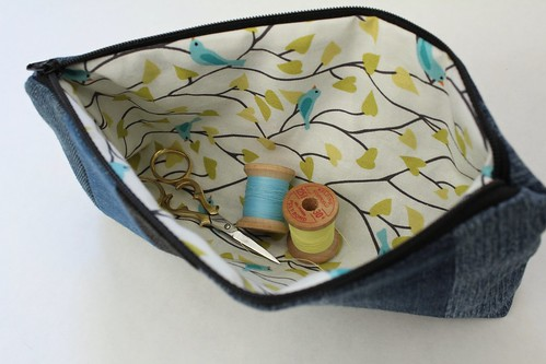Striped Zipper Pouch on Etsy | by smithsoccasional