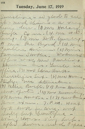 Hallie Earle diary entry for June 17, 1919